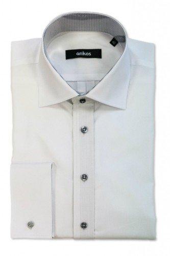 Bílá košile na manžetové knoflíčky