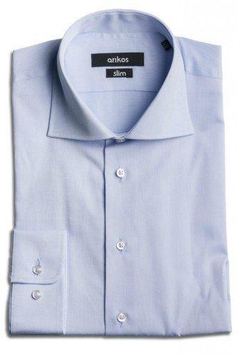 VÝPRODEJ! Modrá pánská košile - SLIM